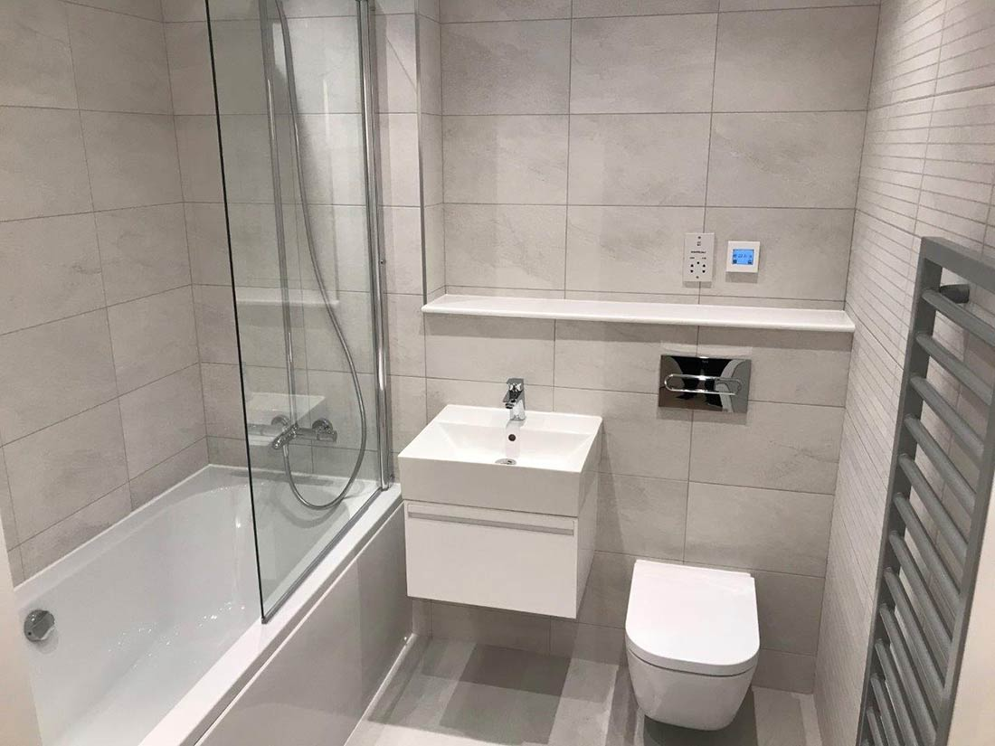 small white bathroom suite